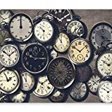murando - Fototapete 400x280 cm - Vlies Tapete - Moderne Wanddeko - Design Tapete - Wandtapete - Wand Dekoration - Uhren Vintage f-C-0094-a-c