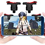Ceuta Retails HOJI ® Slope Shape Pubg Triggers Cum Gamepad Joystick Compatible with All Smartphones (Dark Red) -1 Pairs…