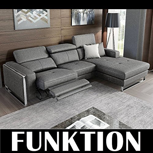 Funktionssofa Ecksofa Eckcouch Funktionscouch Relax Sofa Couchgarnitur mit Relaxfunktion