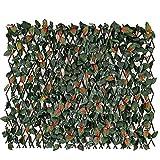Fashion Gartenzaun erweiterbar Efeu-Iwu Sichtschutzzaun künstliche Hecke 99 x 198 cm einseitig farbige Blätter 1PC Orange