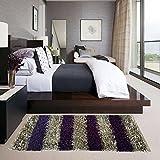#3: Glamkaart Purple Shaggy Bed Side Runner 2x5 Feet