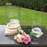 WMG Windlicht Laterne Herakles Kerzenlicht Kerzenglas Alu/Glas 2 Größen (Größe M: H 27cm)