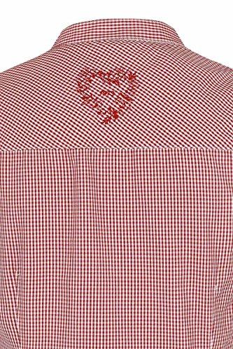 Damen Spieth & Wensky Trachten Bluse kurzarm mit Rüschen kariert rot, Rot, Rot