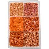 Eshoppee Orange 300 Gm, 11/0 2mm Glass Beads Seed Beads Bead For Jewellery Making Art And Craft Do It Yourself DIY Kit. (Orange)
