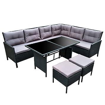 Rattan lounge  Amazon.de: POLY RATTAN Set Gartenmöbel Rattan-Lounge Gartenset ...