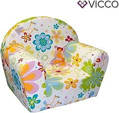 Vicco Kindersessel Kindersofa Minisofa Kindermöbel Sessel Sofa Schaumstoff