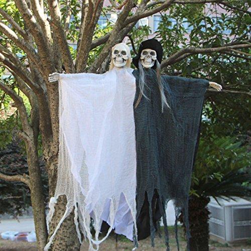Halloween Dekorative Stützen Horror Doppelköpfige Geister Video Stützen Stäbe Spuk Räume Geheime Räume Szenen (Halloween Scary Szenen)