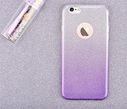 Devia, Cover per Iphone 6/6S Plus, BRA002456 Multicolore (Oro champagne) Sparkling-Purple Gradient