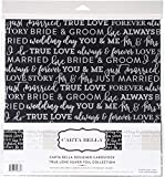 "Carta Bella Collection Kit 12""X12""-True Love W/Silver Foil, 3 Colors/2 Each"