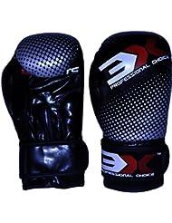 3x profesional choice niños guantes de boxeo Muay Thai Kick Boxing MMA UFC Junior formación sparring niños guantes de boxeo saco de boxeo de lucha negro 4oz