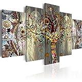 murando - Bilder 100x50 cm - Leinwandbilder - Fertig Aufgespannt - Vlies Leinwand - 5 Teilig - Wandbilder XXL - Kunstdrucke - Wandbild - Baum Abstrakt l-A-0005-b-n