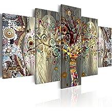 murando - GRANDE FORMATO Cuadro 225x112 cm - Impresion en calidad fotografica - Cuadro en lienzo tejido-no tejido - Bosque Abstraccion l-A-0005-b-n