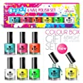 6 x Luxury Nail Polish 6 Different Bright Candy Colours Gift Box High Quality