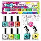 6 x Luxus Nagellack 6 Verschiedene Helle Candy Farben Geschenkbox Hohe Qualität