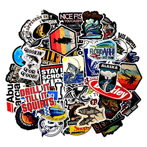50pcspackt Leisure Series Fishing Graffiti Stickers For Luggage Computer Refrigerator Backpack Skateboard Motorcycle SzVMGqUp