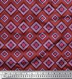 Soimoi Rot Viskose Chiffon Stoff aztekisch Kelim Stoff