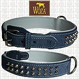 Woza Exclusive HUNDEHALSBAND 3,8/55CM Bully Vollleder Rindleder Nappa Handmade Collar
