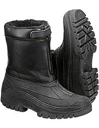 Hardwear NEW Model Unisex Winter Boots Black Fur Lined Anti Slip Sole