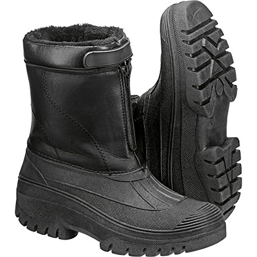 Hardwear Winter Boots Black Fur Lined With Anti Slip Sole Unisex
