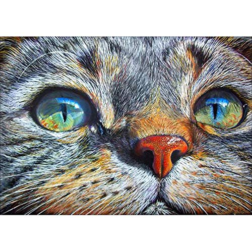 Halloween DIY 5D Internet Girl Animal DIY Diamond Painting Embroidery Painting Cross Stitch Diamond Decoration Handmade Adhesive with Digital Sets Cross Stitch Wall Sticker Decoration 30x40cm