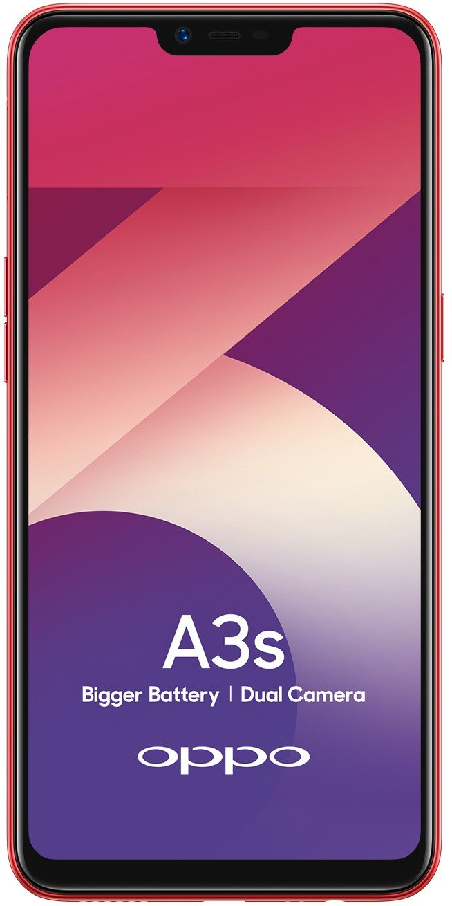 Oppo A3s (Red, 2GB RAM, 16GB Storage) with No Cost EMI/Additional Exchange Offers