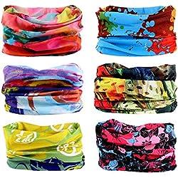 Cinta deportiva - Elástica y multifuncional - Resistente a la radiación UV - Sin costuras - Apta como pañuelo y braga de cuello, color Bunte Serie, tamaño Passt alles
