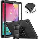 MoKo Case Fit Samsung Galaxy Tab A 10.1 2019, [Heavy Duty] Shockproof Full Body Rugged Stand Back Cover Built-in Screen Prote