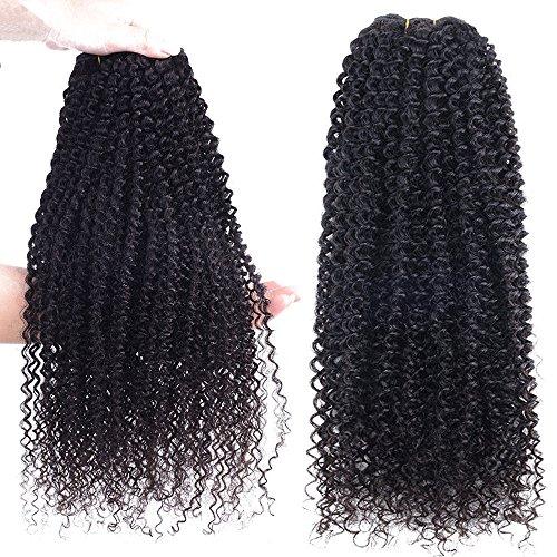 40cm Extension Capelli Veri Tessitura Capelli Ricci Remy Human Hair Kinky  Curly Extension Matassa 100g Ciocca c5a45c70139f
