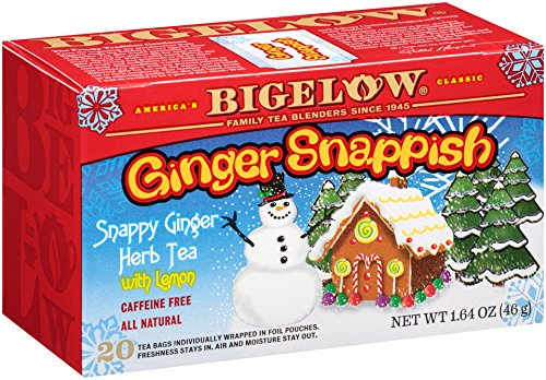 Bigelow Ginger Snappish Herbal Tea, 1.64-Ounce Boxes (Pack of 6)