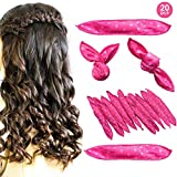 Foam Hair Rollers - 20PCS No Heat Sponge Flexible Foam Hair Curlers Rollers, Night Sleep Magic Pillow Soft Hair Curlers Curly Hair Styling Tools for Long & Short Hair(Pink Dot)