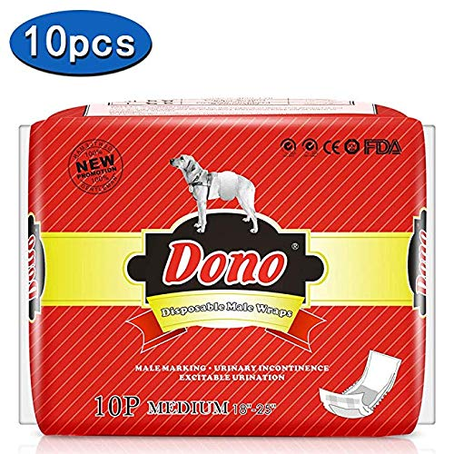 Dono Einweg Hund Windeln Super Saugfähig Windeln für Hunde und Katzen, 2018 M 10pc (18