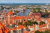 Poster 30 x 20 cm: Luftaufnahme der Altstadt Danzig, Polen