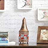 Aapno Rajasthan Copper Finish Conical Gun Metal Tea Light Holder With Free Tealight For Diwali