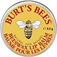 Burt's Bees 100% Natural Lip Balm Tin, Beeswax (100 % natürlicher Lippenbalsam in der traditionellen Dose), 1er Pack (1x 8.5g)