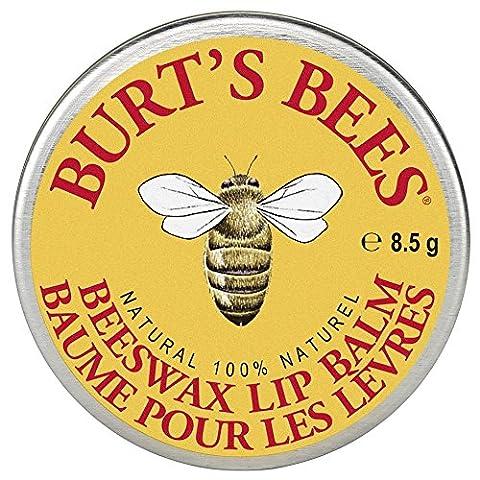 Burt's Bees 100% Natural Lip Balm Tin, Beeswax, 8.5 g