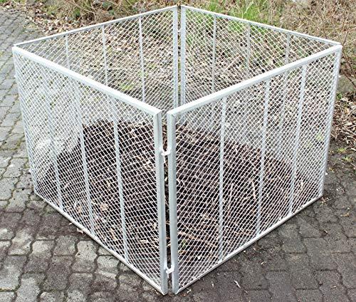 Baumarktplus Komposter Feuerverzinkt Metallkomposter aus Streckmetall Gartenkomposter Metallgitter 100x100x80 cm