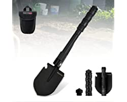 YOUNGDO Camping Shovel, Military Folding Survival Shovel, Entrenching Tool Portable for Camping,Car Emergency,Backpacking,Out