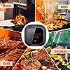 Inkbird IBT-4XS Bluetooth Barbecue Grillthermometer mit dem 1000mAh Li-Batterie, Magnet Montagedesign und Rotations Lesebildschirm Thermometer für BBQ, Küche, Grill, Ofen, Fleisch