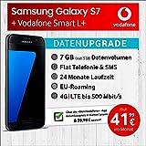 Samsung Galaxy S7 (schwarz) mit 32 GB internem Speicher, Vodafone Smart L+ inkl. 7GB Highspeed Volumen mit max 500 Mbits, inkl. Telefonie- und SMS Flat, EU-Roaming, 24 Monate min. Laufzeit, mtl. € 41,99