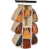 لونغ TEAM شنقا محفظة حقيبة يد المنظم المنزل غير المنسوجة 10 جيوب معلقة خزانة حقيبة تخزين
