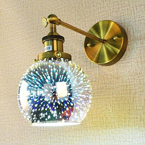 ZT Appliques Coloré verre Moderne LED Culbuteurs réglables Métal E27 abat-jour personnalité Intérieur Chevet Éclairage