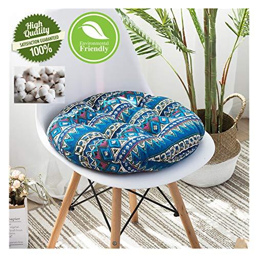 DOTBUY Sitzkissen Stuhlkissen Rund,Weich Baumwolle und Leinen Füllung Sitzauflage für Stuhl Indoor Outdoor Sofa Bett für Zuhause Garten oder Café Tatami Yoga-Matte (45 * 45cm,I) - Aufblasbare Stuhl Cafe