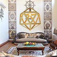 BLYC- Lampadario design continentale creativi di personalità Lampadario legno poligono