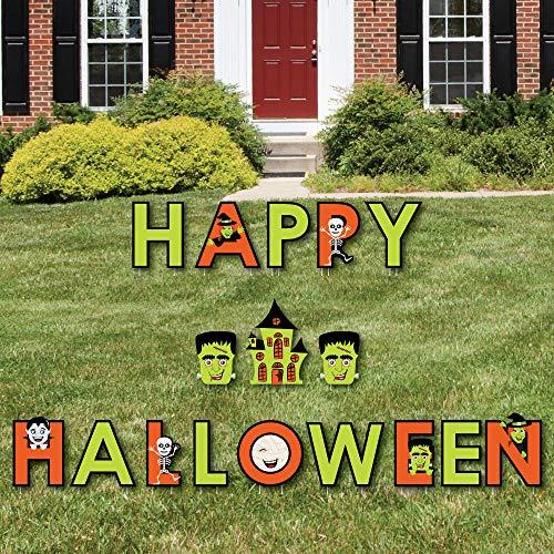 Halloween Monster - Hofschild Outdoor Rasen Dekorationen - Halloween Yard Schilder - Happy Halloween ()