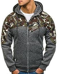 BOLF Men's Zip Hoodie Sport Outdoor Zip Mix [1A1]
