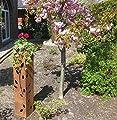 Rost Säule RS24 kostenloser Versand /Gartensäulen Blumensäule Fackel Gartendeko Deko Schale rostig von Jabo-Design bei Du und dein Garten