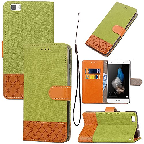 Casefirst Huawei P8 Lite case, Cases for Huawei P8 Lite Cases for Built-in Stand Function for Huawei P8 Lite - Green Leather - U220-serie