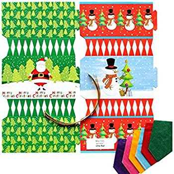 10 x make your own large 14 35cm christmas cracker kits red kit to make 6 santa snowman christmas crackers diy christmas cracker crafts solutioingenieria Images