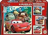 Educa - 14942 - Puzzle - Progressif Cars 2, 4 Puzzle