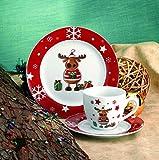 Kaffeeservice Elch 36tlg. für 12 Personen weiß mit Weihnachtsdekor lustiger Elch für Kaffeeservice Elch 36tlg. für 12 Personen weiß mit Weihnachtsdekor lustiger Elch
